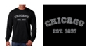 LA Pop Art Men's Word Art Long Sleeve T-Shirt - Chicago 1837