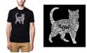LA Pop Art Men's Premium Word Art T-Shirt - Cat