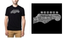LA Pop Art Men's Premium Word Art T-Shirt - Guitar Head