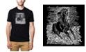 LA Pop Art Men's Premium Word Art T-Shirt - Horse Breeds