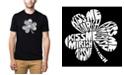 LA Pop Art Men's Premium Word Art T-Shirt - Kiss Me I'M Irish