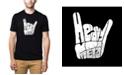 LA Pop Art Men's Premium Word Art T-Shirt - Heavy Metal
