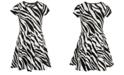 Sequin Hearts Big Girls Zebra-Print Dress