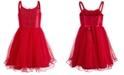 Pink & Violet Big Girls Sequined Mesh Dress
