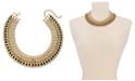 """INC International Concepts INC Gold-Tone Crystal, Stone & Imitation Pearl Statement Collar Necklace, 17"""" + 3"""" extender, Created For Macy's"""