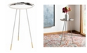 Furniture Calix Tri-Glam Side Table, Quick Ship