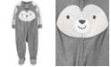 Carter's Baby Boys 1-Pc. Animal-Face Fleece Footed Pajamas