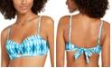 SUNDAZED Tied and True Printed Becky Bra Sized Bikini Top, Created for Macy's