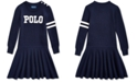 Polo Ralph Lauren Little Girls Merino Blend Logo Dress
