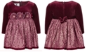 Bonnie Baby Baby Girls Velvet Lace Dress
