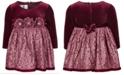 Bonnie Baby Baby Girls Velvet Lace Dress
