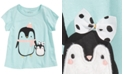 First Impressions Baby Girls Penguins-Print Cotton T-Shirt, Created For Macy's