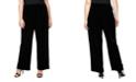 Alex Evenings Plus Size Velvet Flat-Front Pants