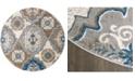 "Global Rug Designs Haven HAV01 Taupe 7'10"" Round Area Rug"