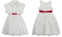 Rare Editions Little Girls 2-Pc. Faux-Fur Jacket & Embroidered Dress Set