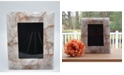 "Nature's Decorations - 10"" H x 8"" W Natural Rose Quartz Agate Picture Frame"