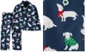 Carter's Toddler Boys 2-Pc. Holiday Dog Pajamas Set