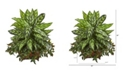 """Nearly Natural 32"""" Silver King and Mini Melon Artificial Plant in Planter"""