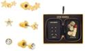 Steve Madden Gold-Tone 3-Pc. Set Crystal Star Stud Earring Gift Set