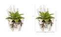 """Nearly Natural 8"""" Sansevieria Artificial Plant with Roots in Chair Planter"""