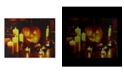 """Northlight LED Lighted Halloween Witch's Jack-O'-Lantern by Candlelight Canvas Wall Art, 15.75"""" x 19.5"""""""