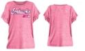 5th & Ocean Big Girls Seattle Seahawks Ruffle Foil T-Shirt