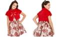 Rare Editions Big Girls Faux-Fur Bolero & Brocade Dress