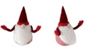 """Northlight 11.5"""" Shapely Sammy Red and White Christmas Santa Gnome Figure"""