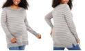 Motherhood Maternity Plus Size Striped Sweater