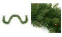 Northlight 9' Pre-Lit Northern Pine Artificial Christmas Garland - Multi-Color Lights