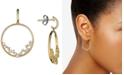 Macy's Diamond Scatter Drop Hoop Earrings (1/2 ct. t.w.) in 14k Gold