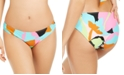 Hula Honey Juniors' Floral Camo Printed Bikini Bottoms, Created for Macy's