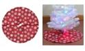 "Northlight 20"" Red and White Glitter Snowflake Mini Christmas Tree Skirt"