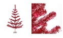 Northlight 3' Red Tinsel Pine Artificial Christmas Twig Tree - Unlit