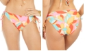 Hula Honey Juniors' Garden Party Printed Adjustable Bikini Bottoms, Created for Macy's