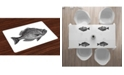 Ambesonne Fish Place Mats, Set of 4