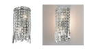 Worldwide Lighting Cascade 2-Light Chrome Finish Crystal Rounded Wall Sconce Light