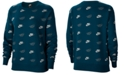 Nike Women's Sportswear Shine Metallic-Print Sweatshirt