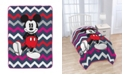 Disney Mickey Mouse Chevron Fleece Blanket
