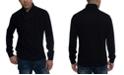 Sean John Men's Tri-Pattern Shawl Collar Sweater