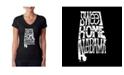 LA Pop Art Women's Word Art V-Neck T-Shirt - Sweet Home Alabama