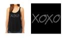 LA Pop Art Women's Premium Word Art Flowy Tank Top- Xoxo