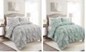 Lush Decor Bella Ruched 3-Piece Comforter Sets