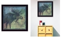 "Trendy Decor 4U Moose By Barb Tourtillotte, Printed Wall Art, Ready to hang, Black Frame, 14"" x 14"""