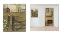 """Trendy Decor 4U Mornings Glory by Billy Jacobs, Printed Wall Art on a Wood Picket Fence, 16"""" x 20"""""""