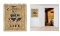 "Trendy Decor 4U Farm Life by Deb Strain, Printed Wall Art on a Wood Picket Fence, 16"" x 20"""