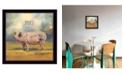 "Trendy Decor 4U Piper the Pig by Bonnie Mohr, Ready to hang Framed Print, Black Frame, 14"" x 14"""