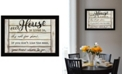 """Trendy Decor 4U Our House is Lived In by Cindy Jacobs, Ready to hang Framed Print, Black Frame, 20"""" x 14"""""""