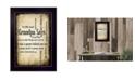 "Trendy Decor 4U Grandpa Says By Susan Ball, Printed Wall Art, Ready to hang, Black Frame, 14"" x 10"""