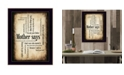"""Trendy Decor 4U Mother Says By Susan Boyle, Printed Wall Art, Ready to hang, Black Frame, 14"""" x 20"""""""
